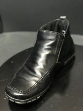 Monza Motor Sport  Men's Leather Black Ankle Booties Size EUR 43