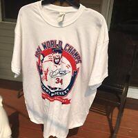 Minnesota Twins Kirby Puckett 1991 Anniversary Gildan XL MLB Baseball T Shirt