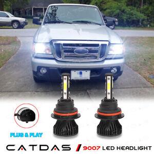 9007 LED Headlight High/Low Beam Conversion Kit 6000K For Ford Ranger 1993-2011