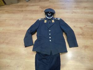 Frühe Bundeswehr Luftwaffe Uniform 2 Taschenrock Hose Schirmmütze Oberstleutnant