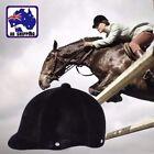Half Cover Horse Riding Helmet Equestrian Hat Cap Safety Unisex Black OBHE23333