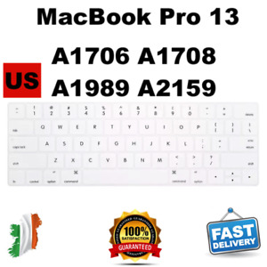 MacBook Pro 13 Thin Silicone Keyboard Cover A1706 A1708 A1989 A2159 US enter