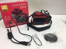 Nikon Coolpix B500 16MP 40x Optical Zoom Digital Camera Wi-fi Red HD Video
