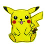 PIKACHU Iron on / Sew on Patch Embroidered Badge Motif Pokemon Go TV PT131