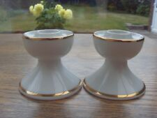 A PAIR OF WINTERLING MARKTLEUTHEN PORCELAIN CANDLE STICK HOLDERS WEST GERMANY