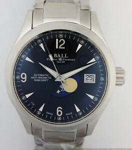 New Ball NM2082C Moonphase Date Automatic Mens Watch Tag Booklet $2100 Retail
