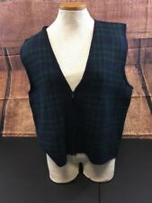Women's Maggie Lawrence Collection 1/2 Zip Plaid Vest Size Small