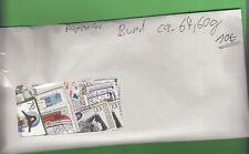 Bund ca. 64,60 g Marken papierlos = dreistellige Anzahl stampsdealer