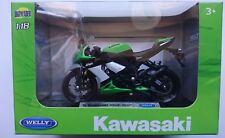 WELLY '09 KAWASAKI NINJA ZX-10R 1:18 DIE CAST MODEL NEW LICENSED MOTORCYCLE