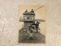 KGB SEIZED German WW2 PHOTO U BOAT archive stamped signed SS castle Wewesburg