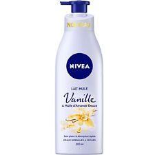 lot 3 Lait-huile vanille & huile d'amande douce NIVEA 200 ml