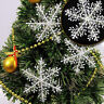 30PCS Snowflake Ornaments Christmas Holiday Party Xmas Tree Hanging Home Decor