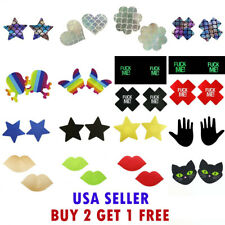 2Pcs Multi-color Invisible Breast Pasties Adhesive Nipple Cover Sticker Pads