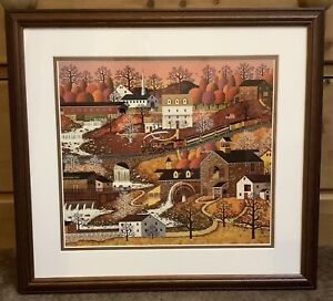 Charles Wysocki WATERFALL VALLEY Custom Framed Double Matted Art Print BARGAIN!