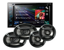 "Pioneer AVH-280BT 6.2"" CD DVD Receiver w/ 6.5"" & 6x9"" Car Speakers Package"