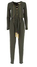 Michael Kors. Green Jumpsuit with Gold Chains. Size Medium. RRP £338 /u/