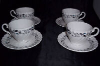 Vintage Johnson Bros Kensington Teacup & Saucer Set of 4 Cups And Saucers