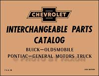 1958-1959 Parts Interchange Book Chevy Buick Pontiac Oldsmobile Chevrolet