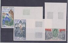 N°1577 à 1579 Grands noms de l'histoire,Cote 100 €, neuf **,non dentelé, an 1968