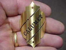 Calumet Bike Badge Emblem 1890s - 1920s Acid Etched Brass or Nickel Plated