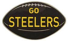 """Pittsburgh Steelers  Vintage-Looking  1950's   """"Go Steelers""""   Die-Cut   Sticker"""