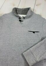 "BILLY REID ""Shiloh"" Shawl Collar Sweatshirt Sweater Cotton Gray Men's XL  Q52"