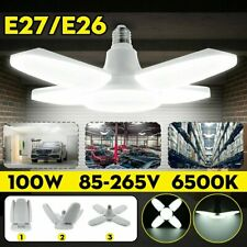 100W 25000LM Deformable LED Garage Light Bright Shop Ceiling Lights Fixture Bulb