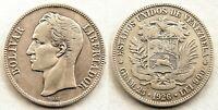 Venezuela-5 Bolivares  1926. Plata 24,8 g. Muy bonita