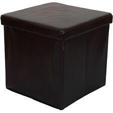 Taburete Plegable TRONCO DE Aufbewahrungsbox Asiento Cubo Pie Banco Marrón