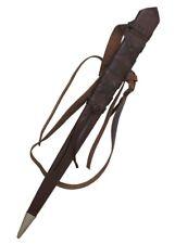 Battle-Merchant Mittelalterlicher Schwerthalter aus Schwarzem oder Braunem Leder LARP Ritter