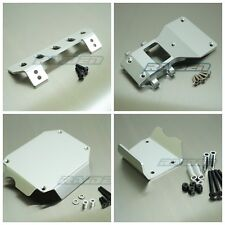 Aluminum Front Center Rear Skid Plate Suit for Tamiya CC01 PAJERO JEEP Silver