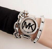 Original Michael Kors Uhr Damenuhr MK5925 Edelstahl Farbe:Silber Kristall NEU