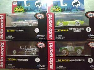 Batman,Riddler,Catwoman and Joker Iwheels Auto world slotcar set (2014)