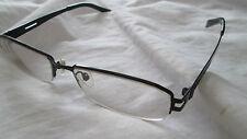 Fairyland titanium semi rimless black glasses frames. 8014.