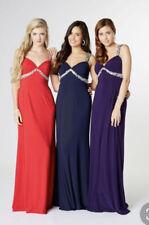 Tiffany sienna Prom Black Cut Out Back Long Dress size 8 BNWT