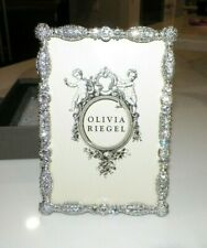 """Olivia Riegel Rt1641 Crystal Picture Frame With Box 6 3/4"""" x 4 1/2"""" For 6 x 4 P"""