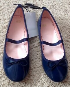 H&M Girl Blue Dressy Shoes Size 8 EUR 25 New