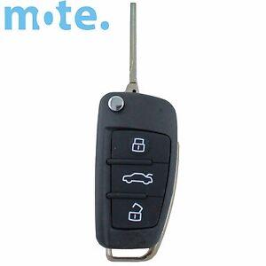 To Suit Audi A3 A4 A5 A6 A8 Q5 Q7 TT S LINE RS 3 Remote Flip Key Shell/Case/Fob