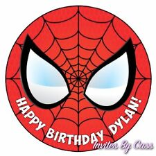 SPIDER-MAN ROUND 7 INCH EDIBLE IMAGE CAKE TOPPER BIRTHDAY PARTY KIDS