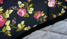 """ROSES ON BLACK"" PRETTY FLOWERS DRESSAGE SADDLE PAD NOVELTY FLORAL"