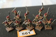Games Workshop Warhammer Wood Elves Wardancers x12 Metal Well Painted Figures GW