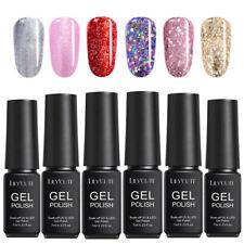 7ml UV Gel Nail Polish Soak Off Glitter Shiny Sequined Nail Gel Colors LILYCUTE