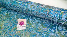 "Paisley Metallic Brocade Fabric 58"" wide for Jackets and waistcoats M350 Mtex"