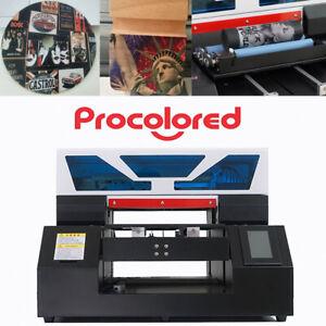 Procolored A3 UV Printer Flatbed Cylindrical Glass Metal Wood T-shirt DHL UK