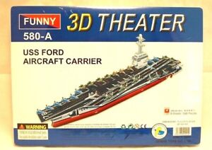 USS Ford Aircraft Carrier 3D Puzzle 100 Pieces Toy Model Hobbies NEW