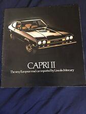 1959 Lincoln Capri and Continental Mark 4 Color Brochure Catalog Prospekt