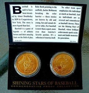 SHINING STARS OF BASEBALL CARL HUBBELL 24K COMMEMORATIVE PROOF COINS