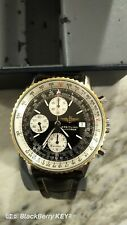 Breitling Navitimer Men's Black Watch with Leather Crocodile Strap - A13022