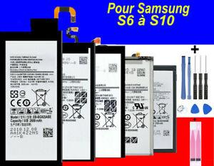 BATTERIE Samsung Galaxy S6/S7/S8/S9/S10 Edge Plus 100% Neuve+ kit outils