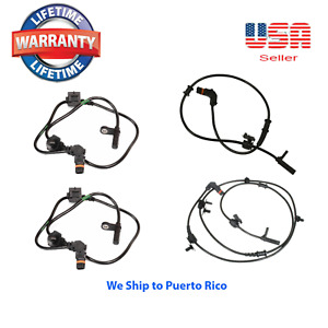Set 4 ABS Wheel Speed Sensor Rear Front L & R AWD Fit:Chrysler 300 Dodge Charger